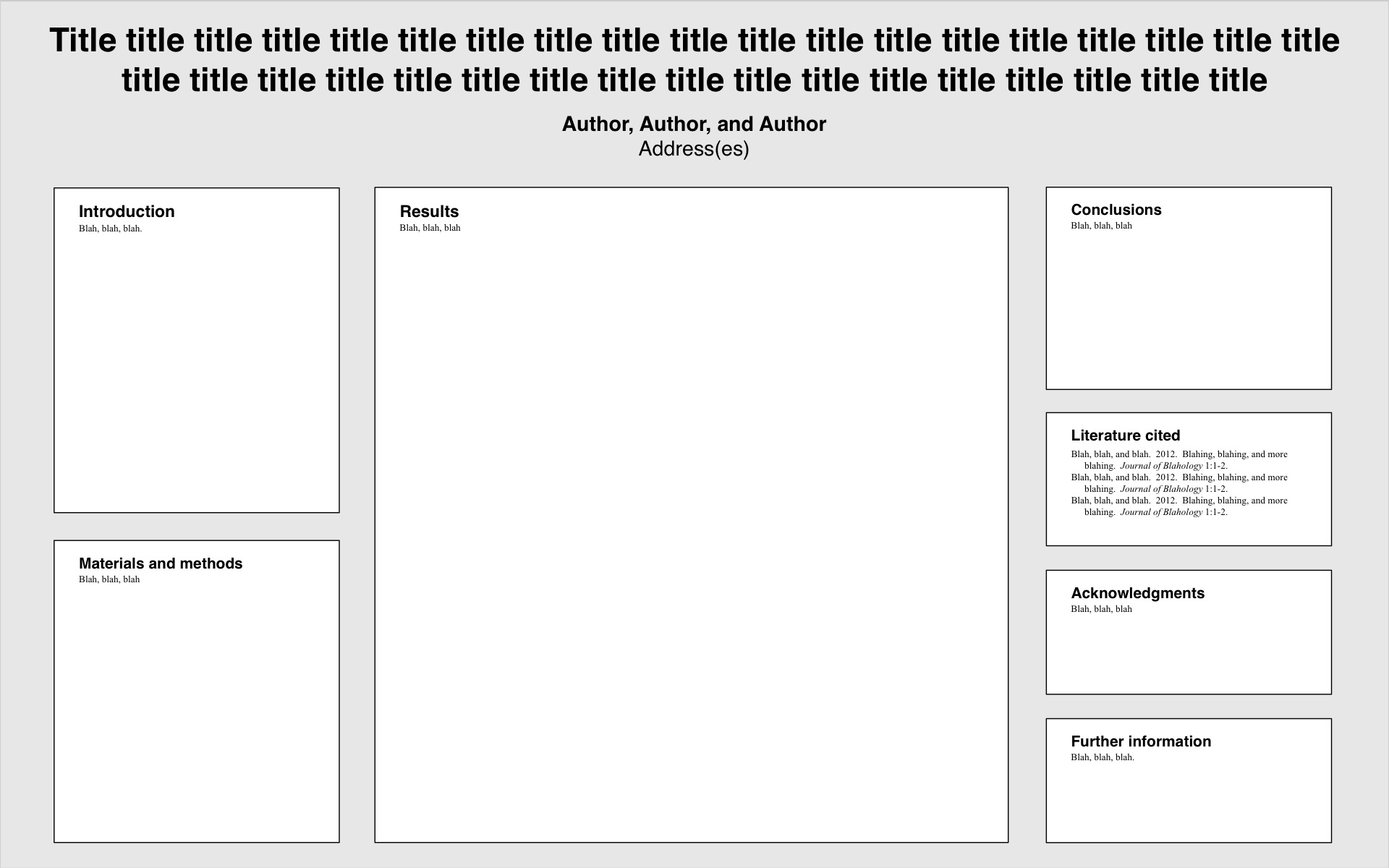 templates for conference posters - colin purrington, Powerpoint templates