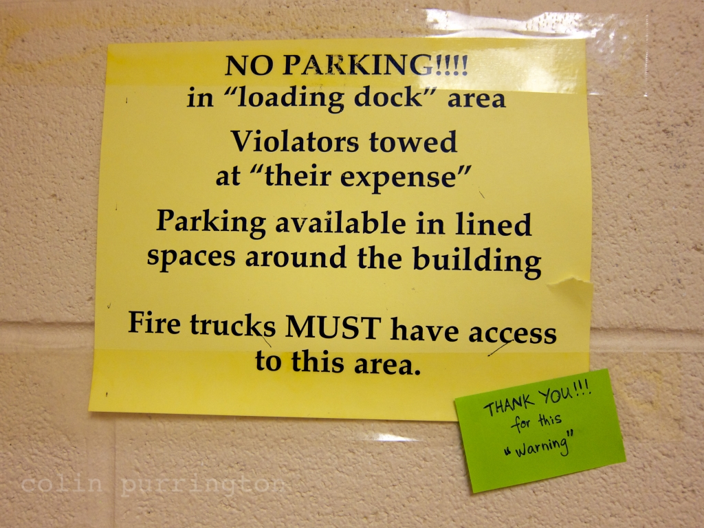 Overquoted signage