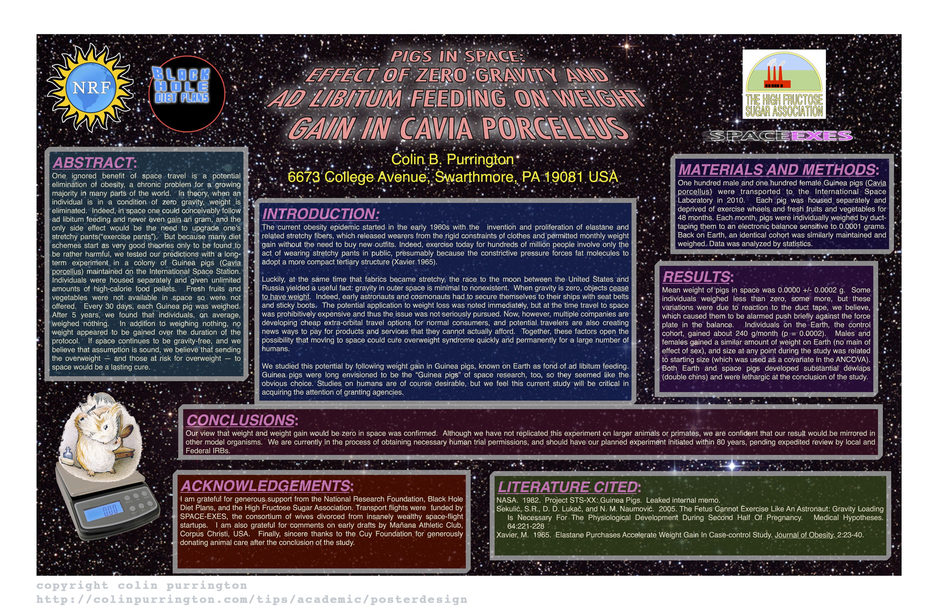 example of bad conference poster - colin purrington, Presentation templates