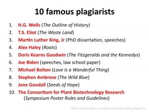 10 famous plagiarists