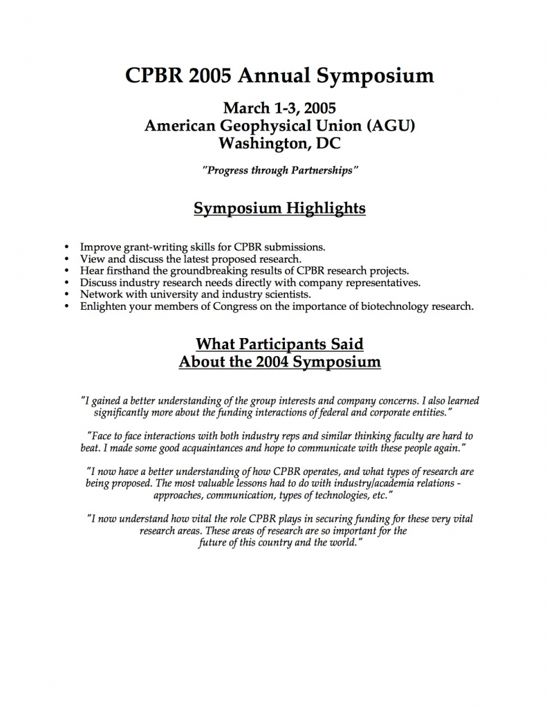 CPBR symposium 2005