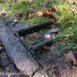 Sump pump outflow with stagnant water