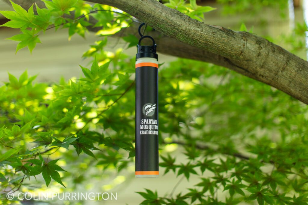 Spartan Mosquito Eradicator hanging in a tree