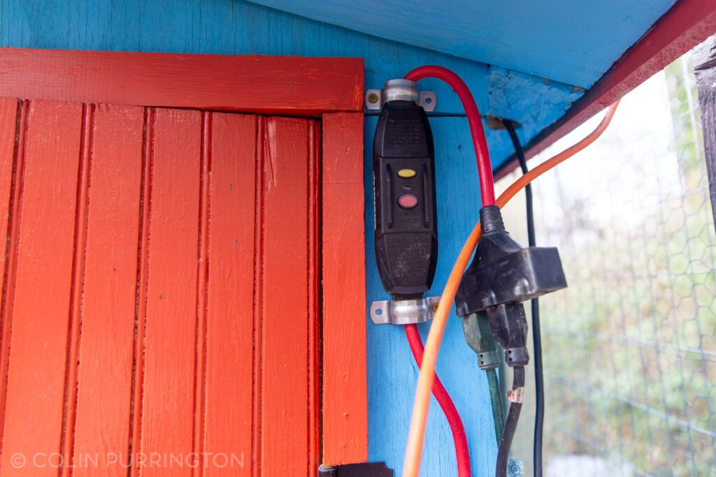 GFCI power supply for chicken coop