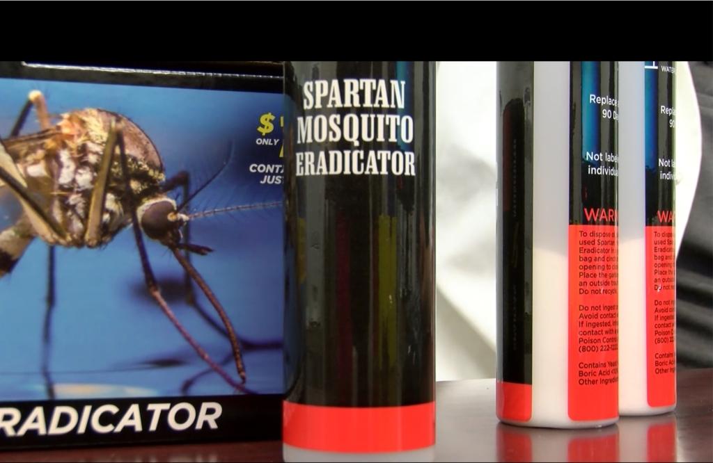 Spartan Mosquito Eradicator tubes showing boric acid as ingredient